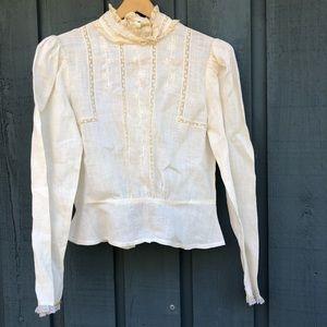 Vintage cloak of many colors linen top